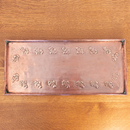 Keswick K.S.I.A. Arts and Crafts Copper Floral Tray