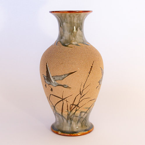 An exquisite large Doulton Lambeth vase by one of Doulton Lambeth's most collected artists Florence Elizabeth Barlow.