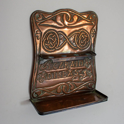 Alexander Ritchie Iona Arts and Crafts Glasgow Style Hanging Copper Pipe Rack