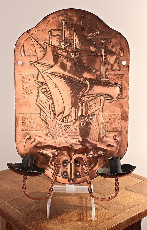 Newlyn Copper Candle Wall Sconce