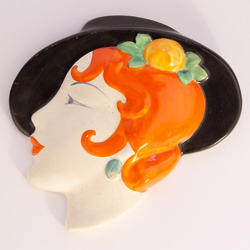Superb Art Deco Wall Mask by Cope or Lancaster