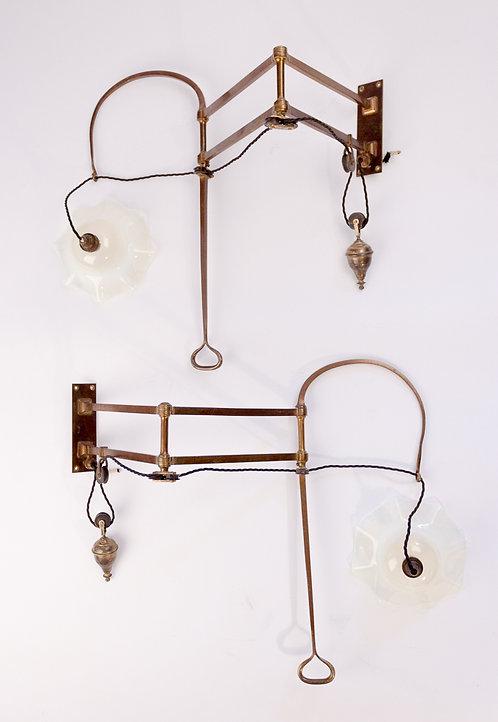 Superb pair of Arts and Crafts Birmingham Guild of Handicraft Wall Lights.