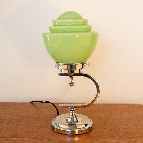 Superb Geometric Modernist Art Deco Chrome Table Lamp