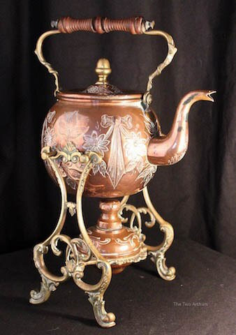 Art Nouveau French Copper & Brass Kettle - SOLD