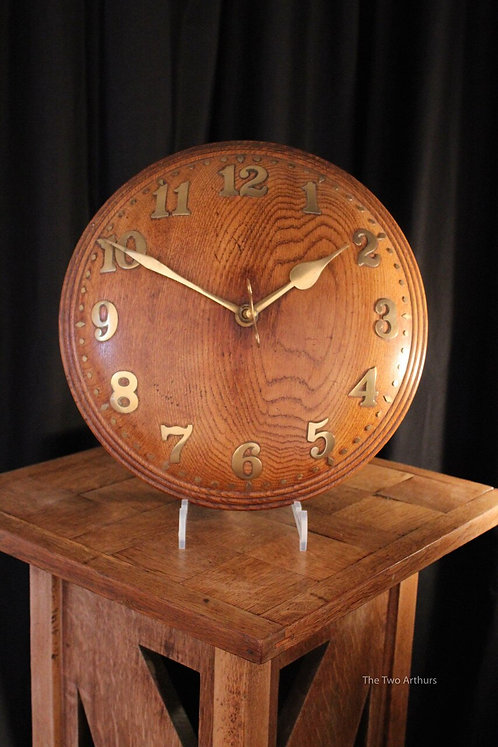Heal's of London Tiger Oak Zenith Wall Clock