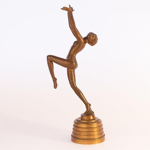 Superb Lorenzl Art Deco Figure on solid bronze plinth