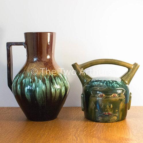 DR CHRISTOPHER DRESSER Large Jug for Linthorpe Pottery Circa 1880 25cm high