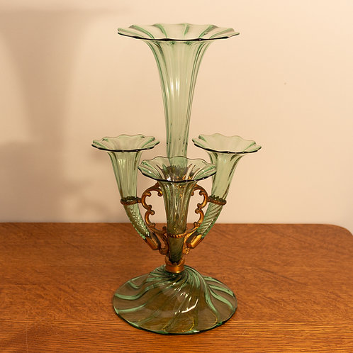 Arts and Crafts James Powell & Sons Whitefriars Glass Flower Vase/Epergne