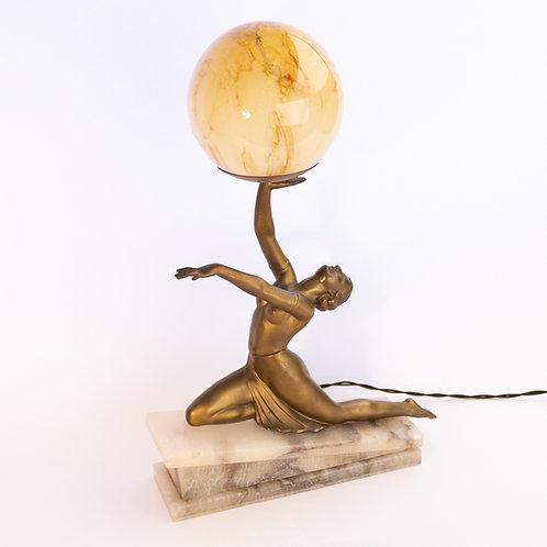 Superb Antique Art Deco Lady Table/Desk Lamp