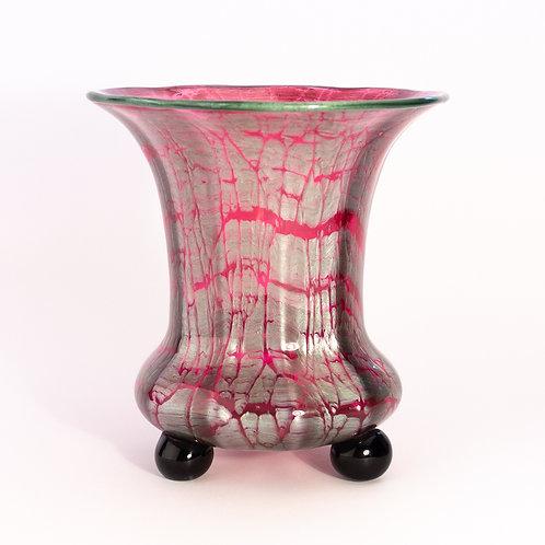Loetz Austria Titania Genre 2534 Art Nouveau Glass Vase Michael Powolny c1918 front view