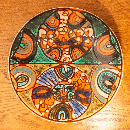 Poole Pottery Sun God Charger Tony Morris Patricia Wells 41.5cm