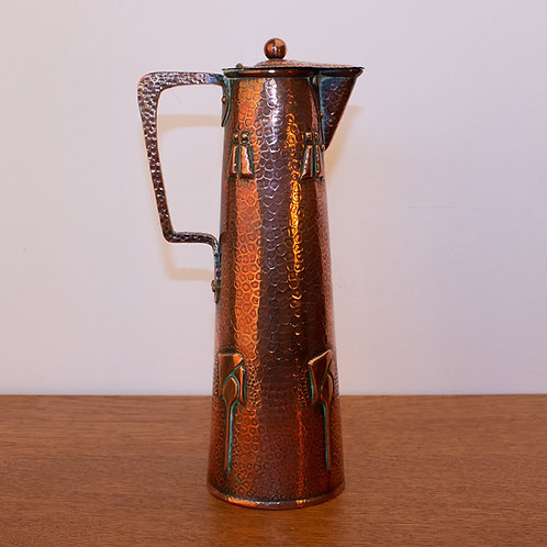 Arts and Crafts J F Pool Of Hayle Cornish Glasgow Style Copper Jug