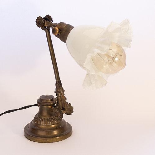 Rare Dugdills Industrial Arts and Crafts 'Open Petal Cog' Brass Table/Desk Lamp