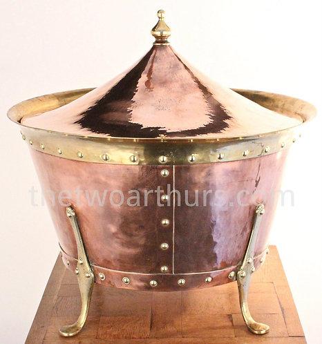 Birmingham Guild of Handicraft (BGH) Arthur Stansfield Dixon Copper Coal Bucket