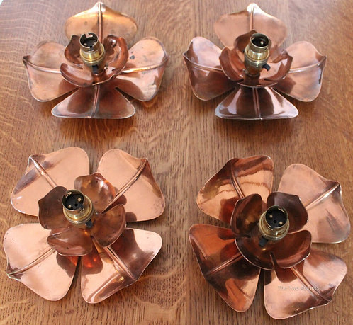 Arts and Crafts Copper Ceiling Lights Benson Style