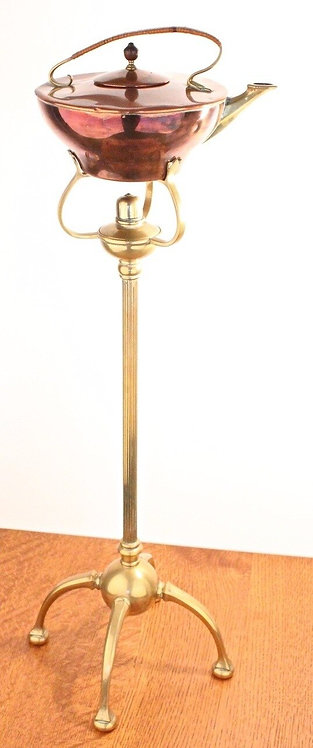 W.A.S. Benson Copper & Brass Kettle on Stand