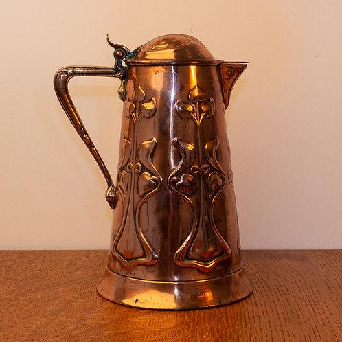 Superb Joseph Sankey Arts and Crafts Copper Jug