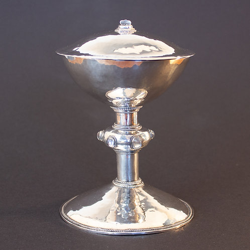 Superb Arts and Crafts Silver and Moonstone Chalice by John Paul Cooper