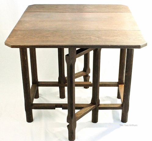 Cotswold School Gordon Russell Tiger Antique Arts and Crafts Oak Drop Leaf Table