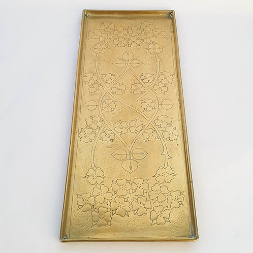 Keswick School of Industrial Art K.S.I.A. Arts and Crafts Rectangular Brass Tray