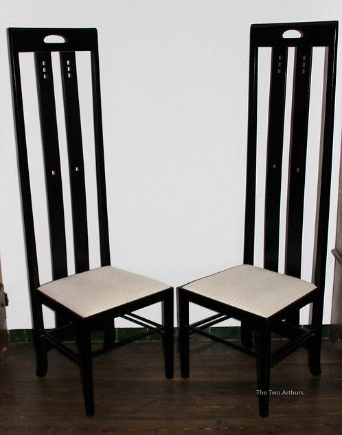 Pair Italian Mackintosh Design Ingram Chairs SOLD