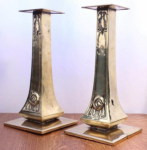 Margaret Gilmour Brass Candlesticks Glasgow - SOLD