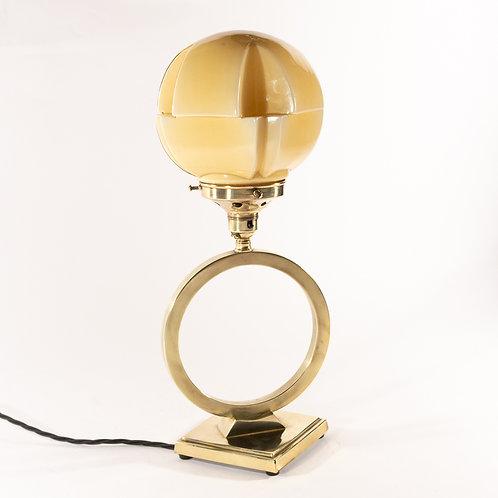 Superb Art Deco Geometric Modernist Saturns Ring Table Lamp