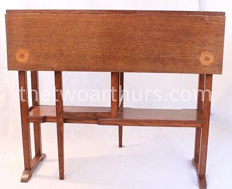 ARTHUR W. SIMPSON, THE HANDICRAFTS Rare Arts and Crafts Inlaid Tiger Oak Occasio