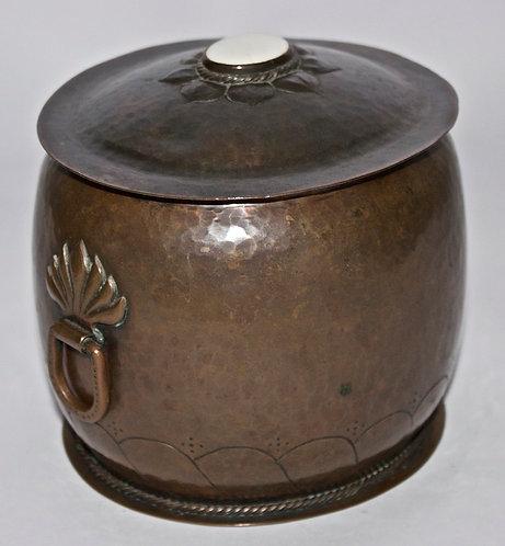 Rare John Paul Cooper & Ernest Gimson Arts and Crafts Copper Biscuit Box