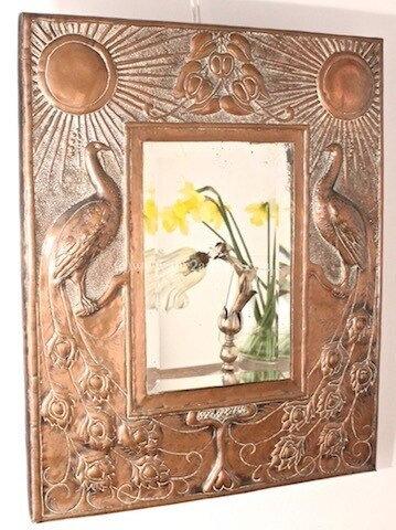 GUILD OF HANDICRAFT Rare Copper Wall Mirror Charles Robert Ashbee