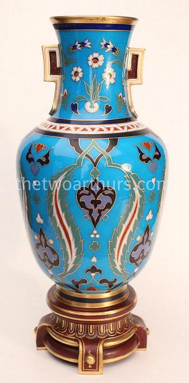 Dr Christopher Dresser Minton Pottery Cloisonné Vase