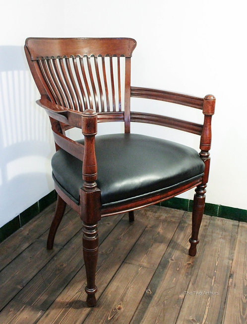 E.W. GODWIN Wooden Desk Chair / Armchair for James Peddle Circa 1881 86.5cm high