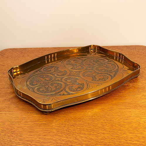 Alexander Ritchie Iona Arts and Crafts Glasgow Style Galleried Tray