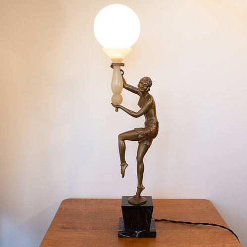 German Art Deco Lady Table/Desk Lamp