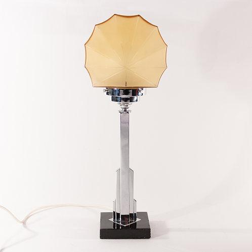 Superb Art Deco Chrome Skyscraper Modernist Table Lamp