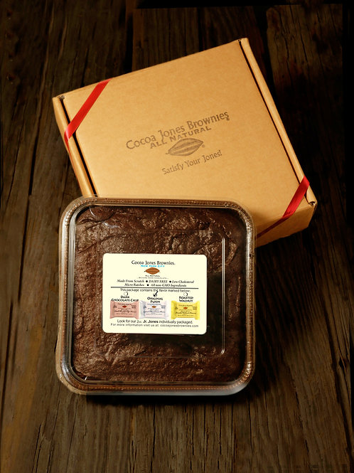 Cocoa Jones Brownies Original Plain Cocoa Brownie Family Pack