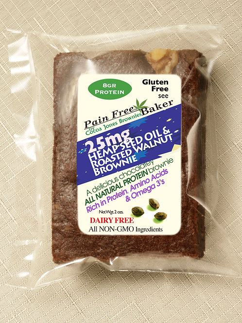 HEMP SEED OIL  ROASTED WALNUT HEMP PROTEIN BROWNIE
