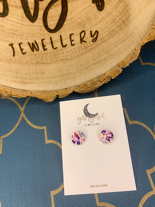Marble Mix Circle studs