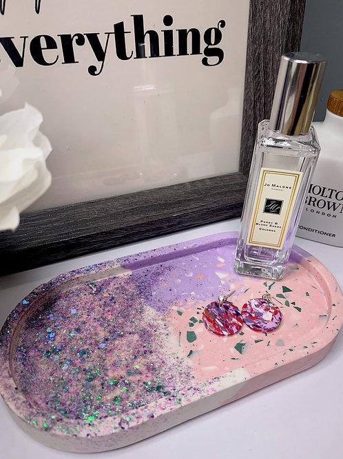 Pink Glitter Trinket Tray
