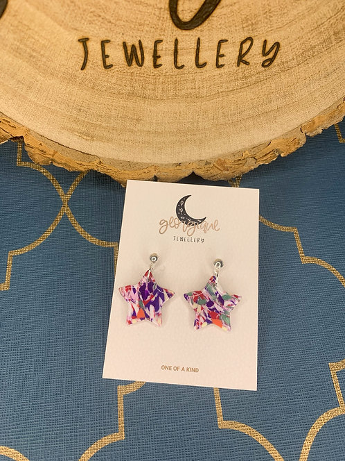 Marble Mix Star dangle