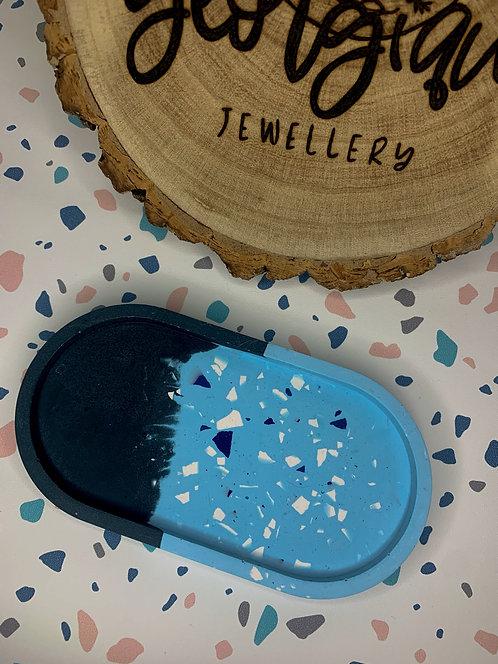 Blue Terrazzo Trinket Tray