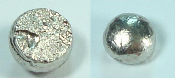 Pure Palladium metal botton