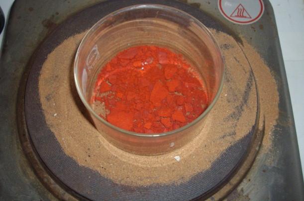 calcining ammonium palladium chloride