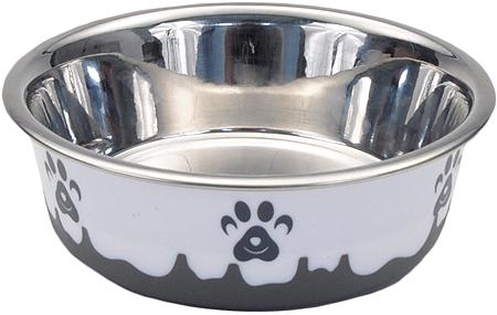 BERGAN Maslow Design Series Dog Bowl Grey Paw