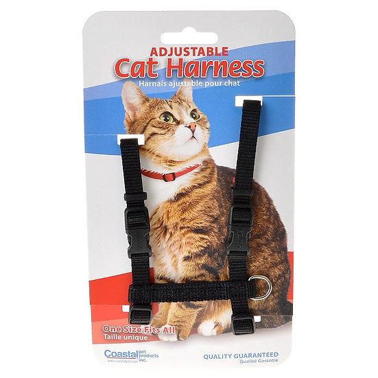 COASTAL Adjustable Cat Harness - Black