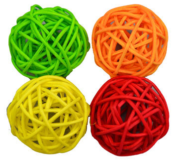 AMAZING Cat Woven Rattan Ball 4 Pack