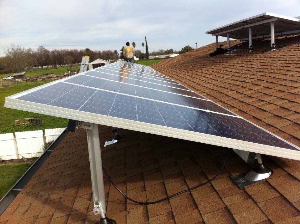 Solar PV Reverse Tilt - French Camp, CA