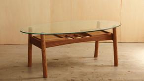 ガラス天板ローテーブルのリメイク