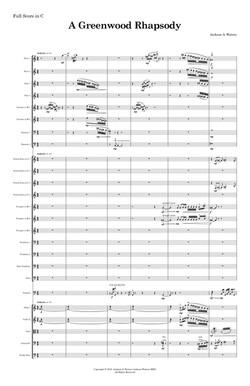 A Greenwood Rhapsody Full Score copy (dr