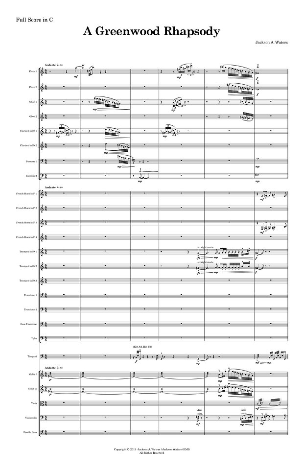 A Greenwood Rhapsody Full Score copy (dr